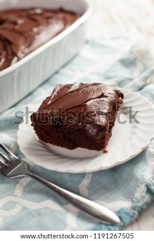 Dark Chocolate Buttercream Frosting on a moist and delicious chocolate cake