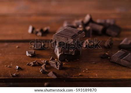 Dark chocolate product photography, ready for advertisment, text #593189870