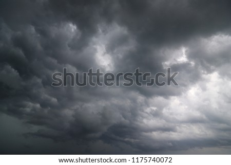 dark clouds and storm, weather #1175740072