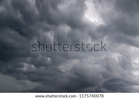 dark clouds and storm, weather #1175740078