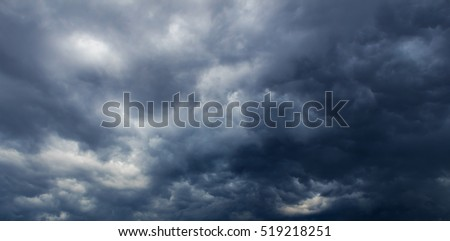 Dark Clouds before thunderstorm, Cloudy Sky