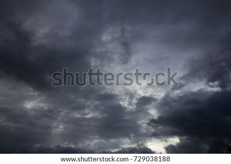 Dark Clouds in sky before the raining come. #729038188