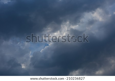 dark clouds on sky.storm weather