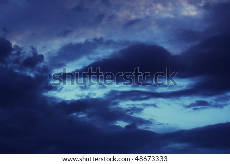 Dark clouds on the sky , after the storm