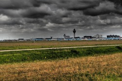 Dark Clouds over Schiphol airport