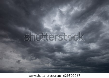 Dark clouds promise rain. #629507267
