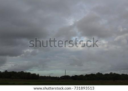 Dark Cloudy Sky #731893513