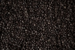 dark coffee beans, coffee beans, roasted delicious coffee beans