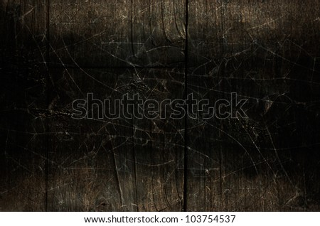 Dark Cracks and Wood Background