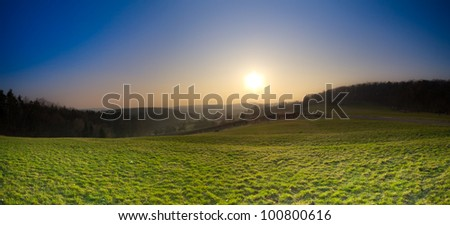 Dark dawn panorama
