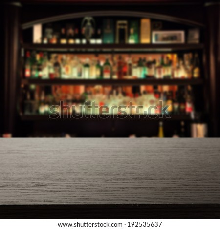 dark desk of free space and bar