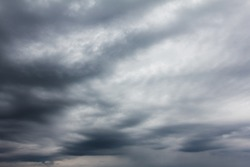 Dark, dreary and depressing autumn sky background. The mood of melancholy