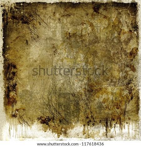 Dark dripping abstract background