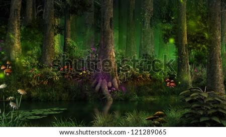 Dark fairytale forest