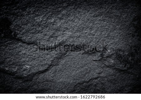 Dark gray granite or black slate  stone texture abstract for nature background