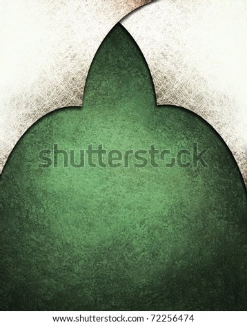 dark green background with white top layers, soft faded grunge texture, lighting, and blank copy space for adding text or title - stock photo
