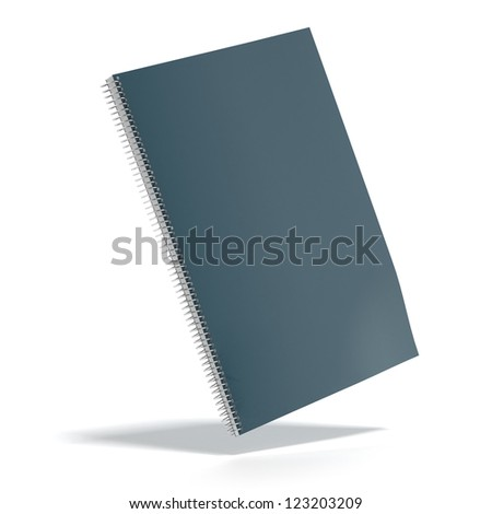 Dark green color Cover Note Book isolated on a white background