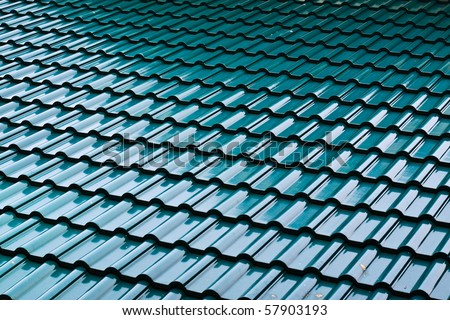 Dark green color roof tile