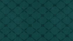 Dark green seamless motif tiles wallpaper texture background - Vintage retro concrete stone cement tile with rhombus diamond leaves pattern