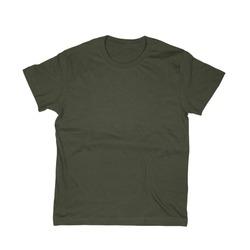 Dark green tshirt isolated on white background