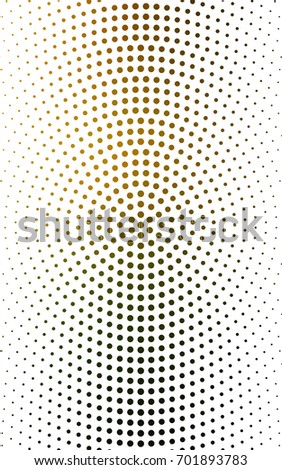 Dark Green, Yellow banner set of circles, spheres. Donuts Background. Creative Design Templates. Technology halftone illustration.