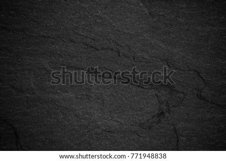 Dark grey black slate background or natural stone texture. - Shutterstock ID 771948838