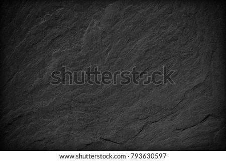 Dark grey black slate background or texture. #793630597
