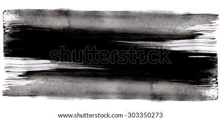 Dark grunge black ink background texture, long horizontal image. High resolution image.
