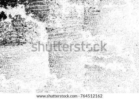 Dark grunge chaotic pattern. Monochrome worn, scuffed background. Background of cracks, scuffs, chips, stains, ink spots, lines