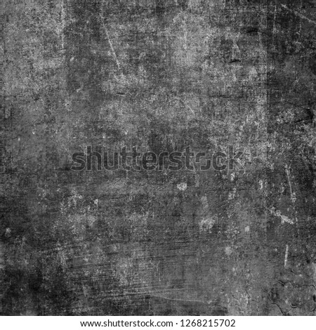 Dark Grunge Chaotic Seamless Pattern. Fantasy Abstract Texture Made Of Ink Paint. Monochrome Worn, Scuffed Background. Textile And Fabric Sample Design. Urban Modern Wallpaper. Spotted Backdrop Image #1268215702