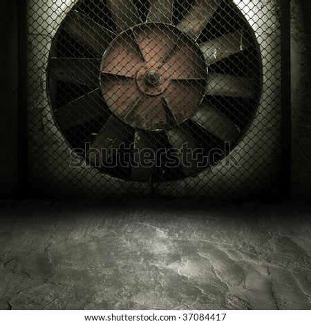 Dark Grunge Room. Digital background for studio photographers.