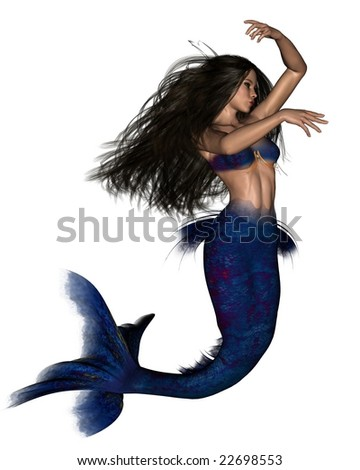 Dark Haired Mermaid - 3