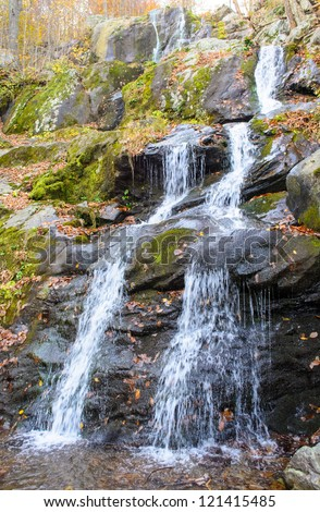Dark Hallow Falls in Shenandoah National Park during autumn
