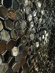 Dark hexagons texture. A wall of hexes.