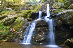 Dark Hollow Falls in Autumn, Shenandoah National Park, VA, USA