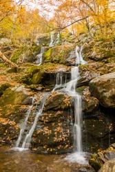 Dark Hollow Falls in the Fall