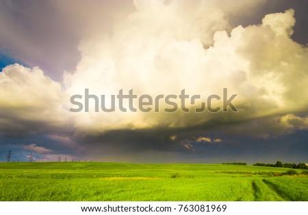 Dark Horizon Rain is Near  #763081969
