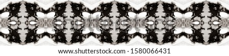Dark Horizontally seamless design. Ethnic Ornament Print. Ethnic Ornament Print. Black Silver Dressing element Antique Element Glamure Kaleidoscope Effect. Floral Elements Floral Pattern.