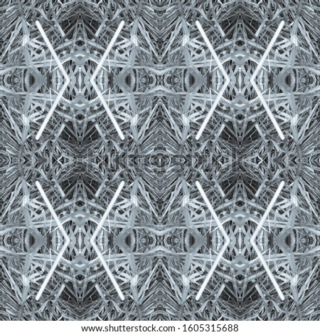 Dark Horizontally seamless design. Ornamental Geometry. Ornamental Geometry. Black Tile Decoration print. Dark Texture. Bright Kaleidoscope Art. Floral Pattern. Floral Elements