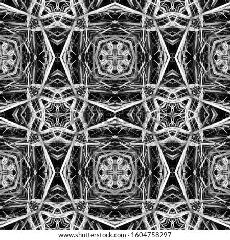 Dark Horizontally seamless design. Ornamental Geometry. Ornamental Geometry. Golden Black Dressing element Antique Element Bright Kaleidoscope Art. Floral Elements Floral Elements