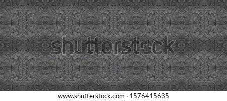 Dark Horizontally seamless design. Ornamental Geometry. Ornate Tile Background Black Tile Dressing element Antique Element Hand Drawn. Kaleidoscope Pattern Floral Elements Floral Elements