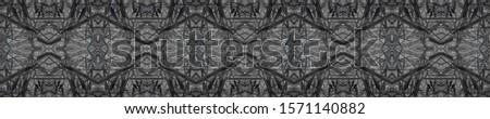 Dark Horizontally seamless design. Ornate Tile Background Ornamental Geometry. Golden Black Dressing element Antique Element Bright Kaleidoscope Pattern Floral Elements Floral Pattern.