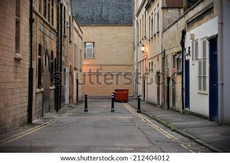 Dark Inner City Alleyway Background  Stockfoto ©