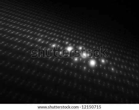 Dark Intense Monochrome Orbs 3D