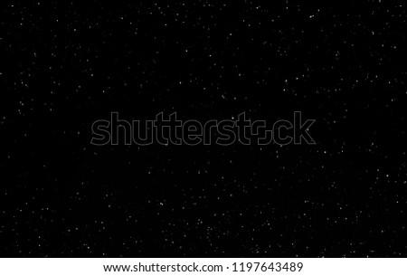 Dark interstellar space. 2d illustration. Stars in a deep space. Blue cold nebula. Dark night sky. #1197643489