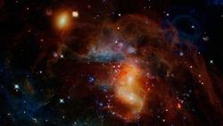 Dark interstellar space. Dark nebula. Elements of this image furnished by NASA.