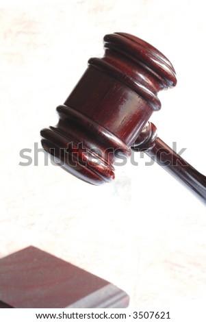 Dark judge hammer and gavel
