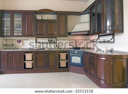 dark kitchen set