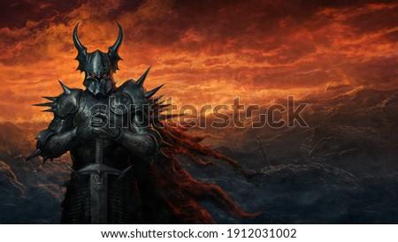Dark knight - fantasy art digital illustration Zdjęcia stock ©
