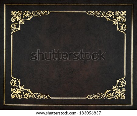 Dark leather book cover